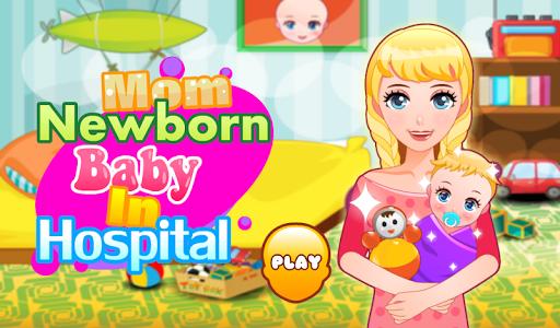 妈妈新生婴儿在医院 —宝贝护理 医疗 分娩 孕妇