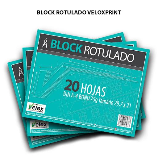 block rotulado veloxprint 20 hojas