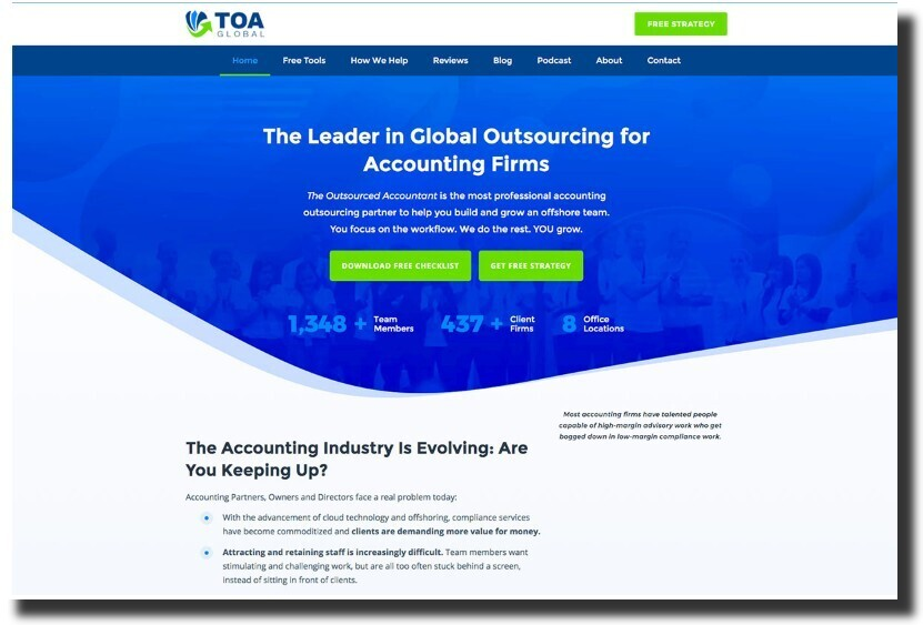 The Outsourced Accountant web design