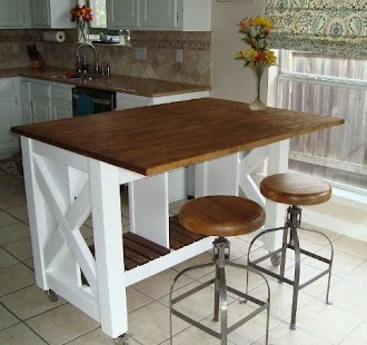 DIY kitchen island ideas - náhled