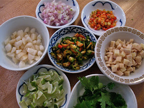 "Photo: cut filling ingredients for ""miang kam"""