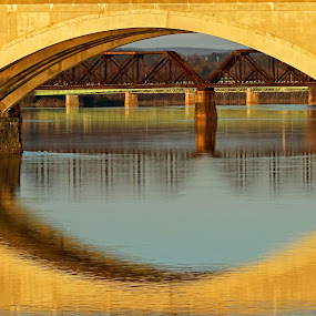 Memorial Bridge by Steve Shelasky - City,  Street & Park  Street Scenes (  )
