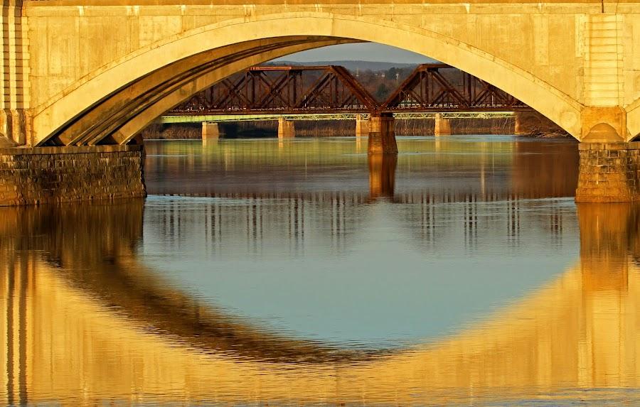 Memorial Bridge by Steve Shelasky - City,  Street & Park  Street Scenes (  )