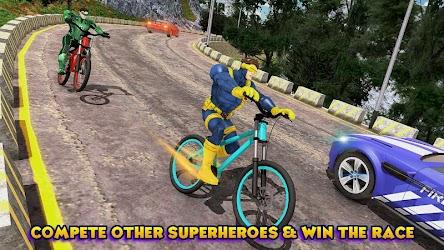 Superhero Bmx Cycle: Hill Racing