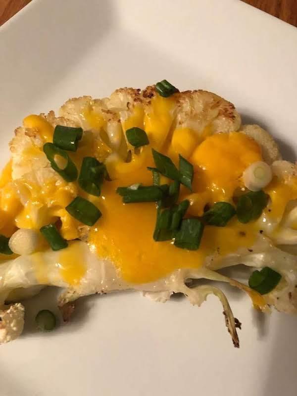 Cheesy Cauliflower Steaks Recipe