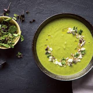 Roasted Broccoli Microgreen Soup.