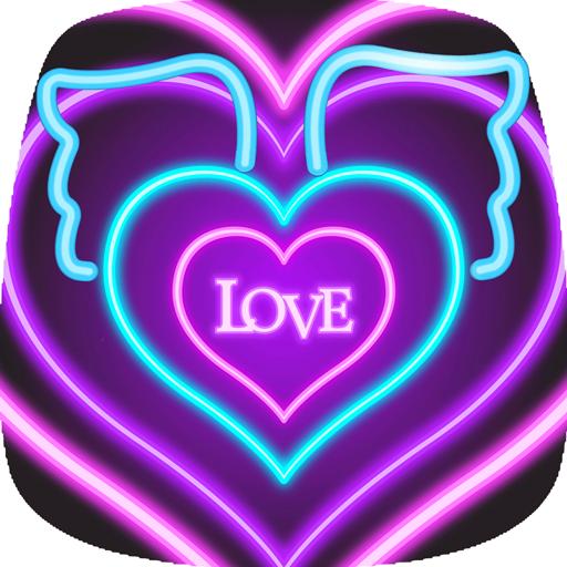 neon live love wallpape (app)