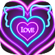 neon live love wallpape (app)