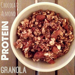 Chocolate Almond Protein Granola {Recipe Redux}
