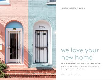 We Love Your New Home - Photo Card Template