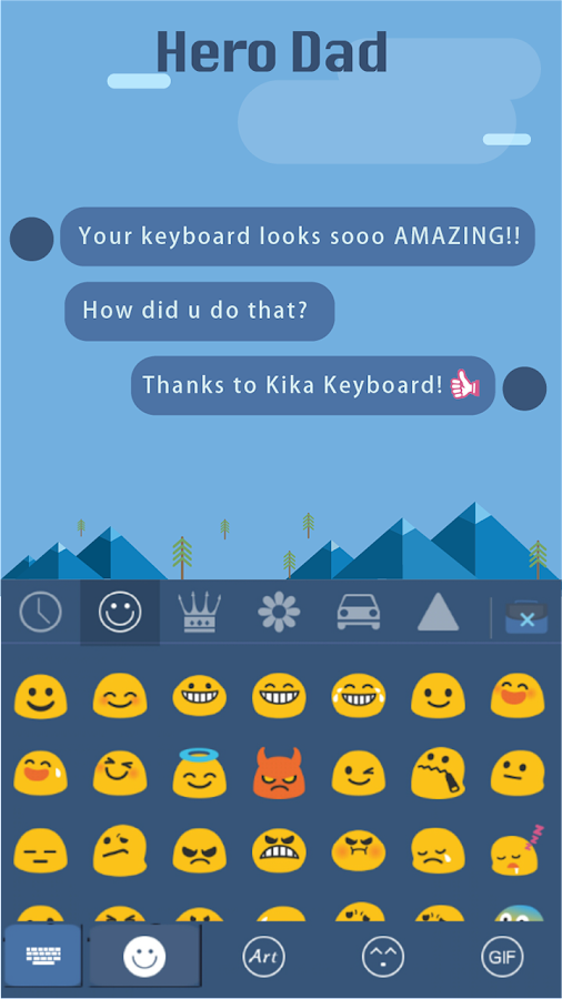 Hero-Dad-for-kika-keyboard 7