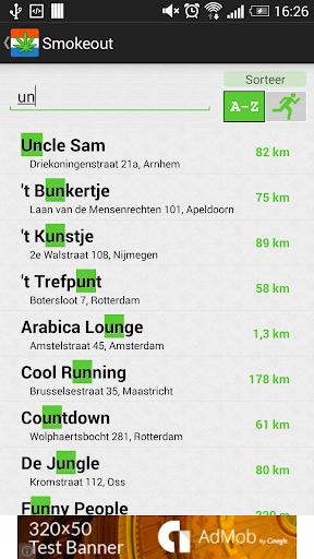 Smokeout - Coffeeshop Map