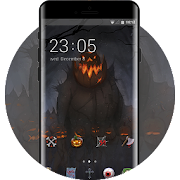 Theme for halloween terror pumpkin wallpaper icon