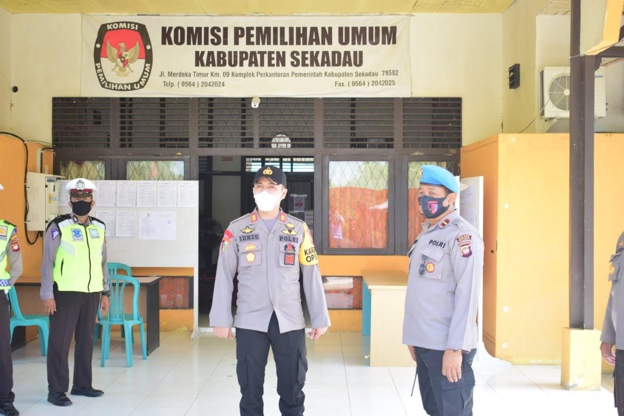Pelantikan Bupati dan Wakil Bupati, Polres Sekadau Kembali Gelar Patroli Skala Besar
