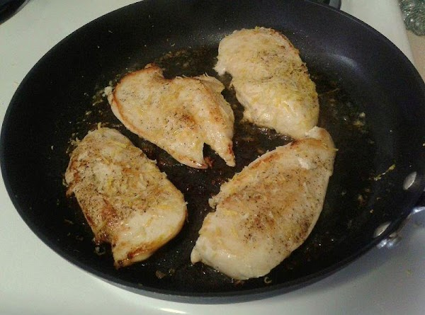 While sauce is simmering start chicken prep. Add the 1/2 tablespoon of butter to...