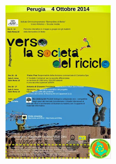 VERSO LA SOCIETA' DEL RICICLO 2014 - PERUGIA - 4 OTTOBRE - ORE 15 - AUDUTORIUM SANT'ANNA