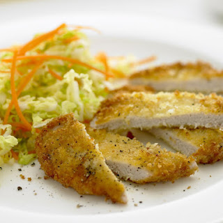 Breaded Pork Cutlets with Cabbage Salad