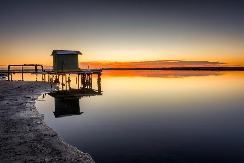 tramonto sulla piallassa Baiona  di elitropia