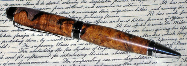 Photo: Cast Burl Cigar pen #57
