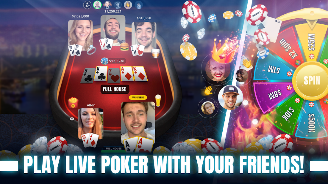 Poker Face - Texas Holdem‏ Poker With Friends Android App Screenshot