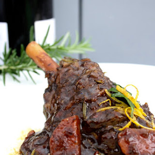 Slow Cooker Lamb Shanks With Red Wine And Balsamic