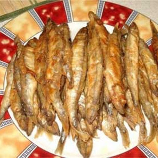 Roasted Smelt or Capelin in Oven