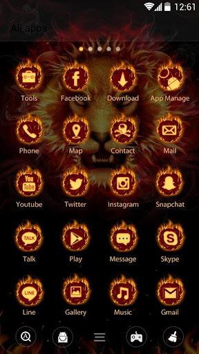 Cool Fire  GO Launcher Theme  screenshots 3