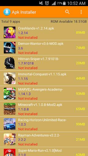 Apk Installer 2.7.5 screenshots 1