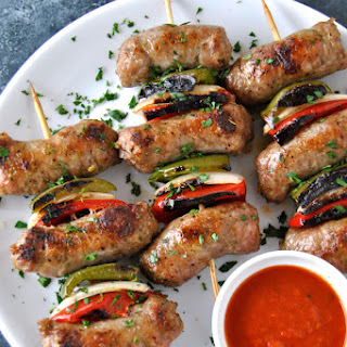 Italian Sausage & Pepper Spiedini Skewers.