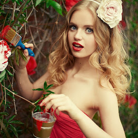 Alice by Oleg Bagmutskiy - People Portraits of Women ( red, lady, world_is_red, women )
