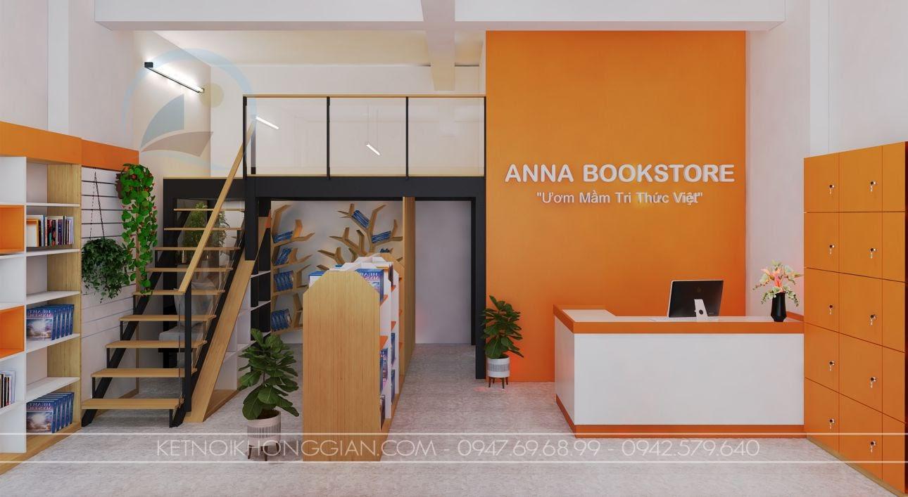 thiết kế nhà sách anna 4