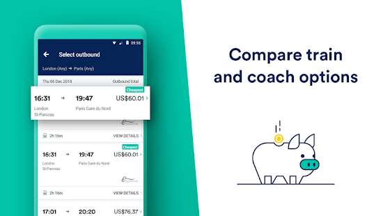 Trainline:  Europe's leading train and coach app Screenshot