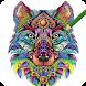 大人向けぬり絵アプリ無料 - Colorwolf  かわいい動物・花のイラストがぬりえに!
