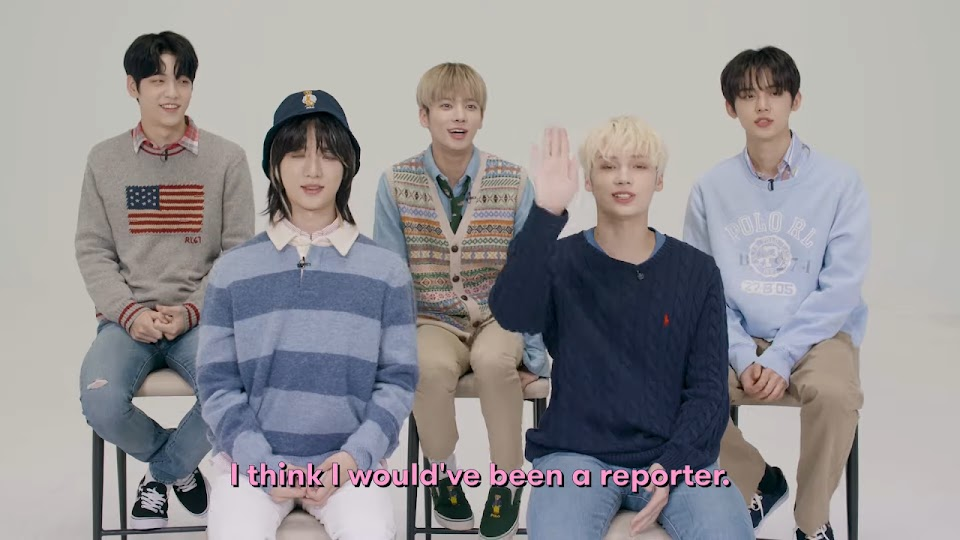 TXT Reveal Their Dream Collab, Fave K-Pop Group, Love Song and More _ 17 Questions _ Seventeen 6-10 screenshot