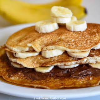 Banana Pancakes out of Pancake Mix.