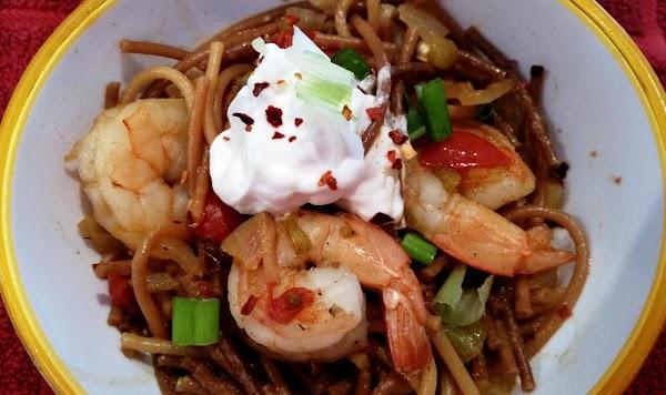 ~ Summer Spanish Shrimp / Pasta Soup ~ Cass Recipe