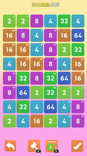 Merge Blast - NO ADS 2048 Puzzle Game android2mod screenshots 3
