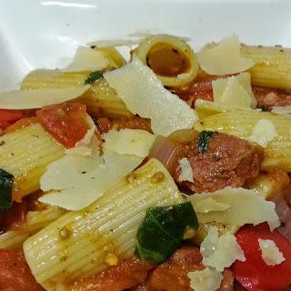 Baked Tomato, Capsicum And Chorizo Pasta