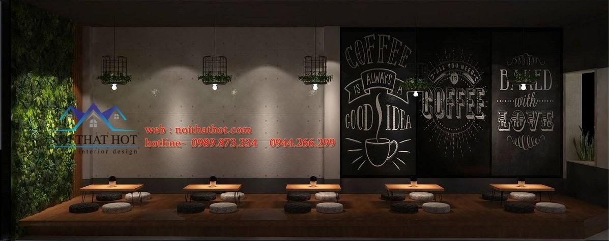 thiết kế quán trà sữa thân thiện