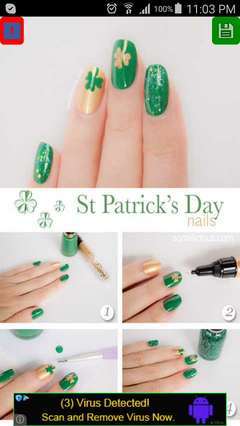 Nail art tutorials free app android apps on google play nail art tutorials free app screenshot prinsesfo Images