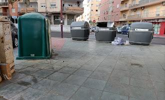 Suciedad en las calles de la ciudad