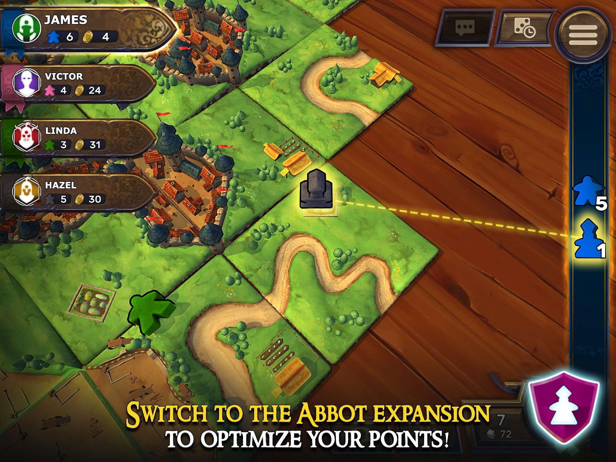 Carcassonne: Official Board Game -Tiles & Tactics screenshot #11