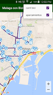 Malaga with bike- screenshot thumbnail
