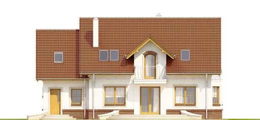 Dom Dla Ciebie 1 w3 z garażem 1-st. A - Elewacja tylna