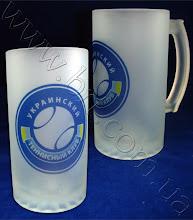 Photo: Пивные кружки с логотипом Украинского теннисного клуба. Матовое стекло, полуматовая ручка, полноцветная печать