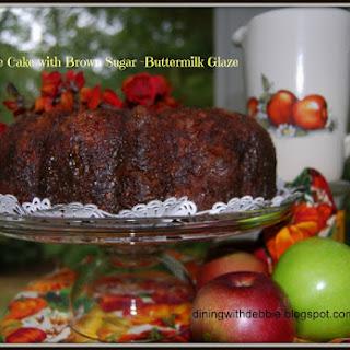 Fresh Apple Cake with Brown Sugar Buttermilk Glaze Recipe