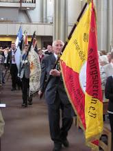 Photo: GGV-Fahne beim Fahneneinzug