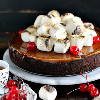 Toasted Marshmallow Chocolate Caramel Cheesecake