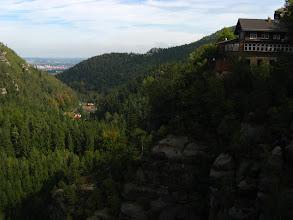 Photo: Widok z ruin XIII -wiecznego zamku na Górze Oybin.