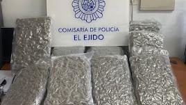 Marihuana encontrada en El Ejido.